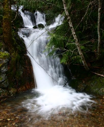 roadside waterfall Doris Creek Falls